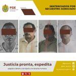 Obtiene FGE sentencias condenatorias de 70 años contra integrantes de banda de secuestradores