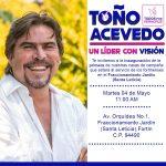 Arranca campaña Toño Acevedo, en Santa Leticia