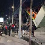 13 muertos y al menos 70 lesionados, al desplomarse la línea 12 del Metro